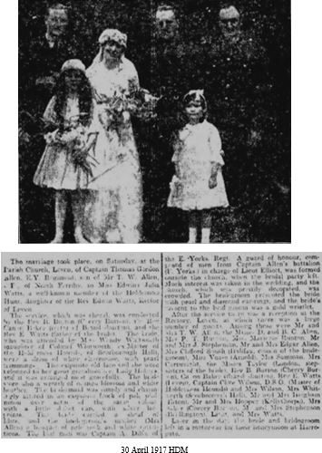 Allen TG Capt wedding 30 April 1917 HDM.JPG